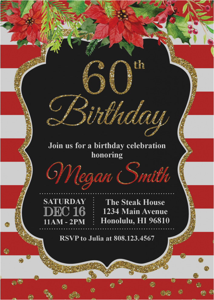 60th Birthday Party Invitations For Him Gallery Of Invitation Cards Design