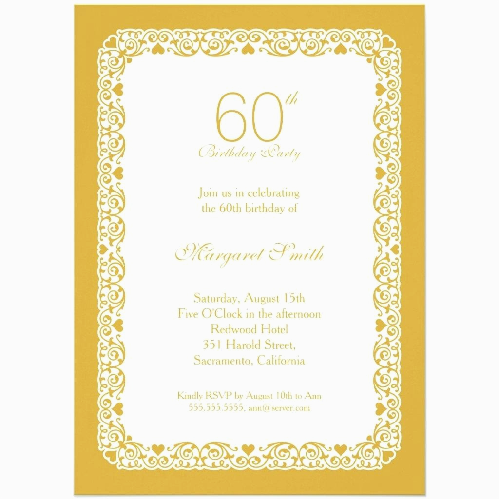 60th Birthday Party Invitations For Him Template