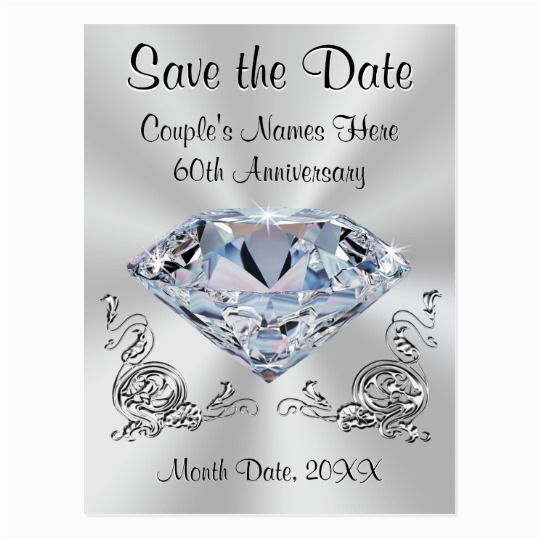 60th Birthday Save the Date Cards 60th Anniversary Save the Date Cards Personalized Zazzle Com