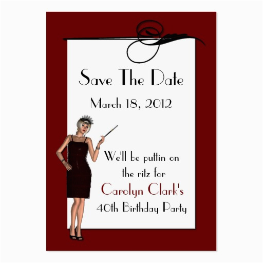60th Birthday Save The Date Cards Birthday Save The Date Cards Large