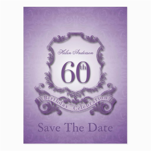 save the date 60th birthday personalized postcard zazzle