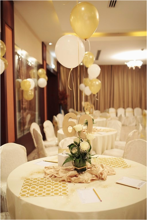 60th Birthday Table Decorations Ideas 12 Best Party Golden Theme Images On