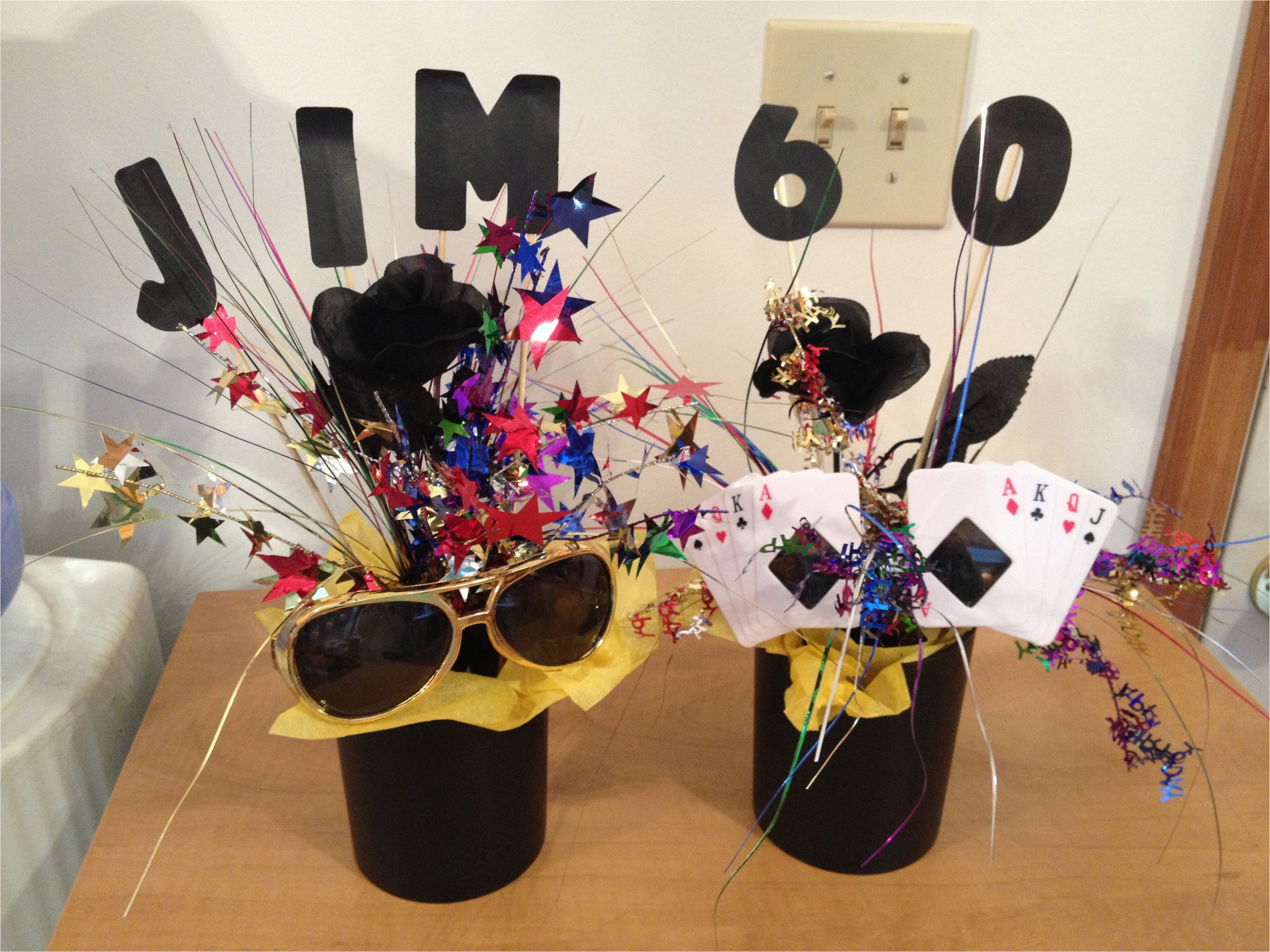 60th Birthday Table Decorations Ideas Jim 39 S Centerpieces Gifts Pinterest