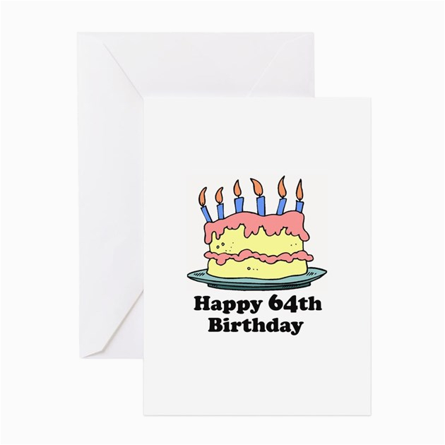 happy 64th birthday greeting card by screamscreens
