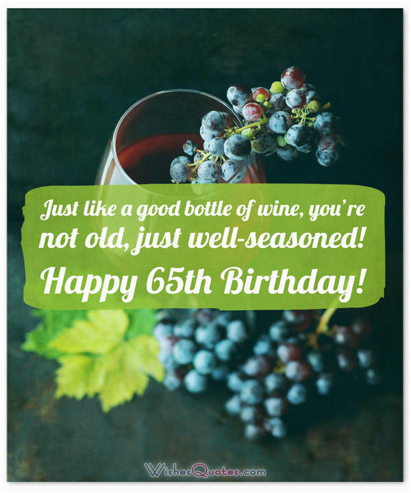 65th birthday wishes