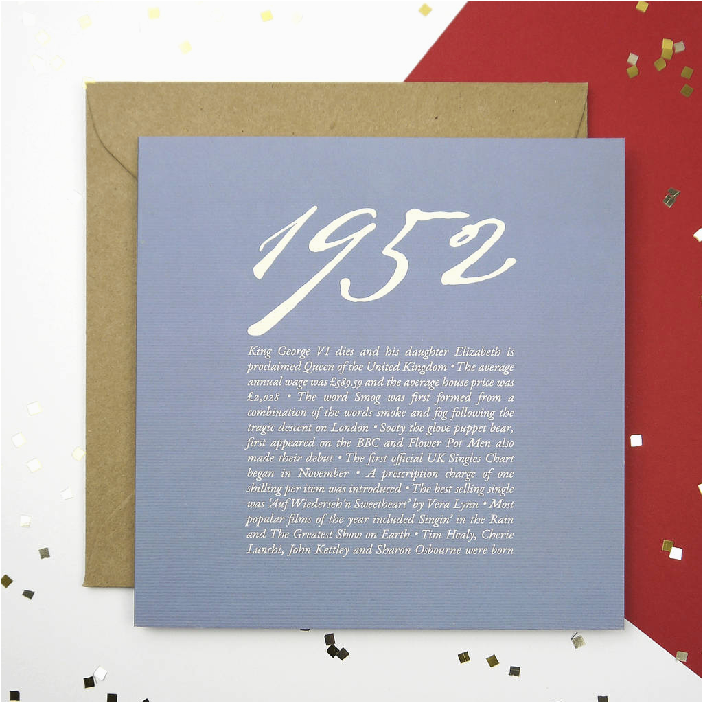 65th birthday card by intwine design notonthehighstreet com