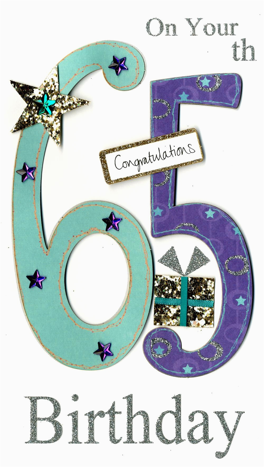 gorgeous 65th age 65 birthday greeting card cards love