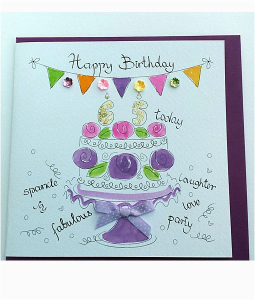 happy 65th birthday cards hand finished 65th birthday cards
