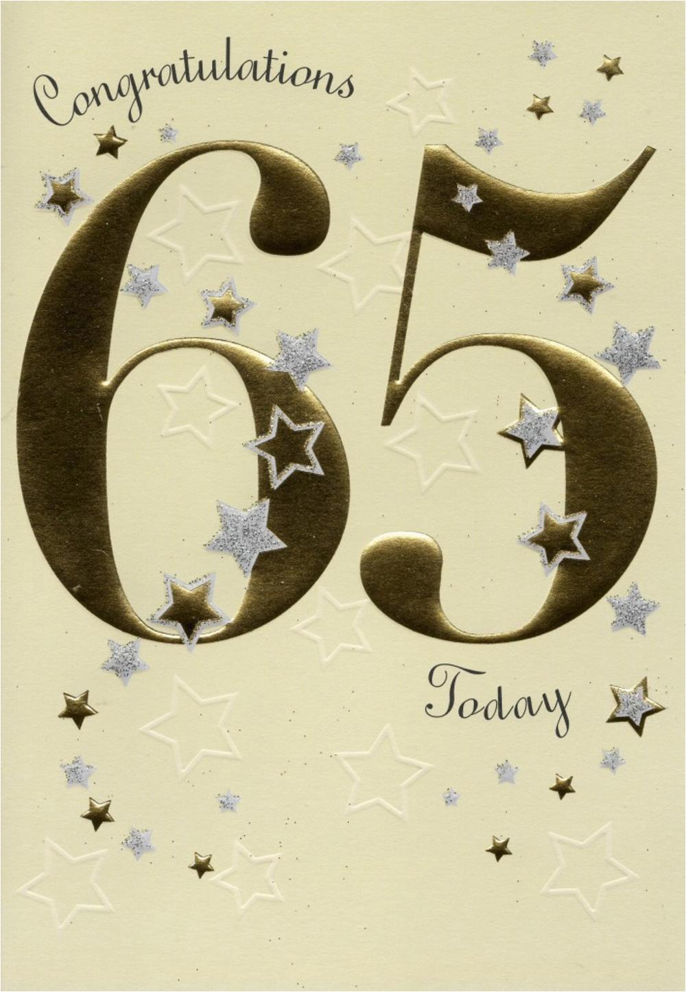 Happy 65th Birthday Greeting Card Cards Love Kates