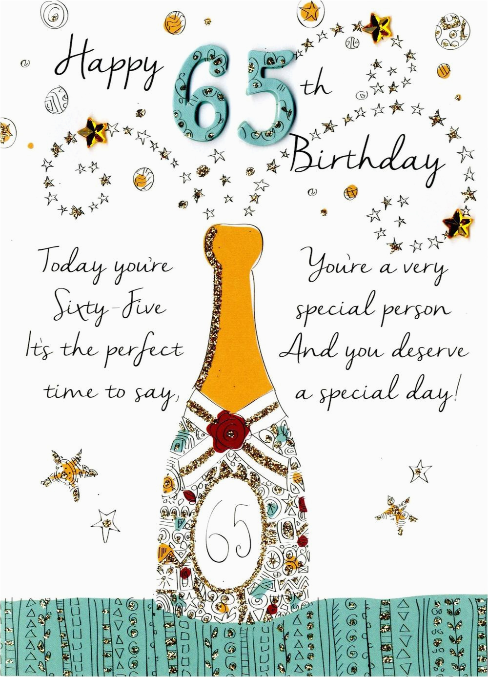 65th Birthday Cards Free Happy Greeting Card