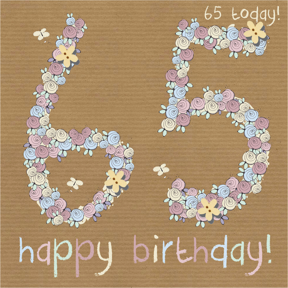 65th Birthday Flowers Floral Happy Card Karenza Paperie