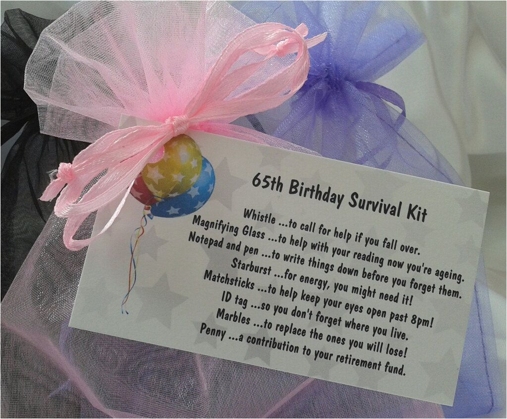 little bag of bits 65th survival kit female by