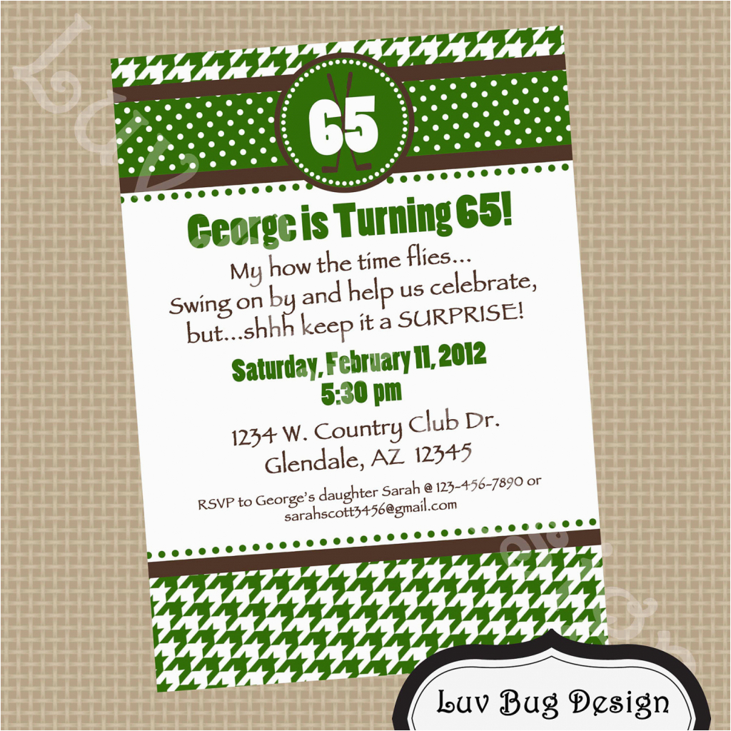 65th Birthday Invitation Wording Best Party Ideas