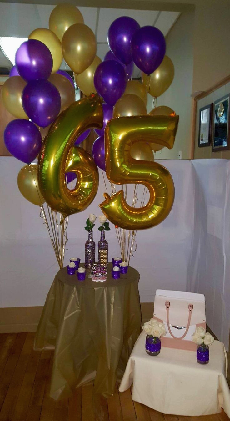 65th Birthday Party Decorations