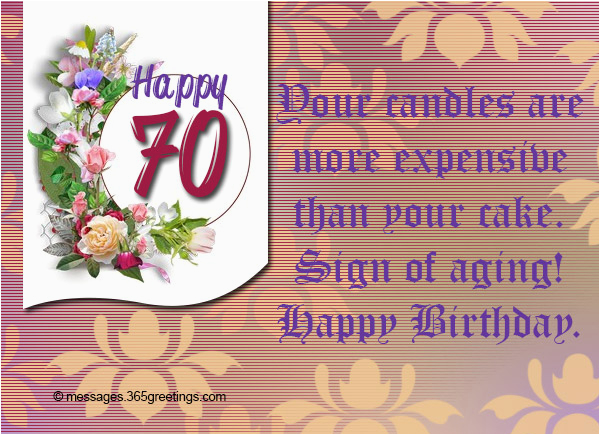 70 Birthday Card Sayings 70th Birthday Wishes and Messages 365greetings Com