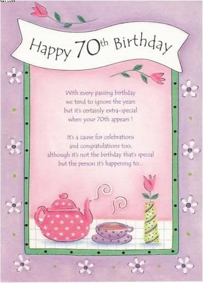 70 Birthday Card Sayings Birthday Cards 70th Birthday Cards Happy Seventy