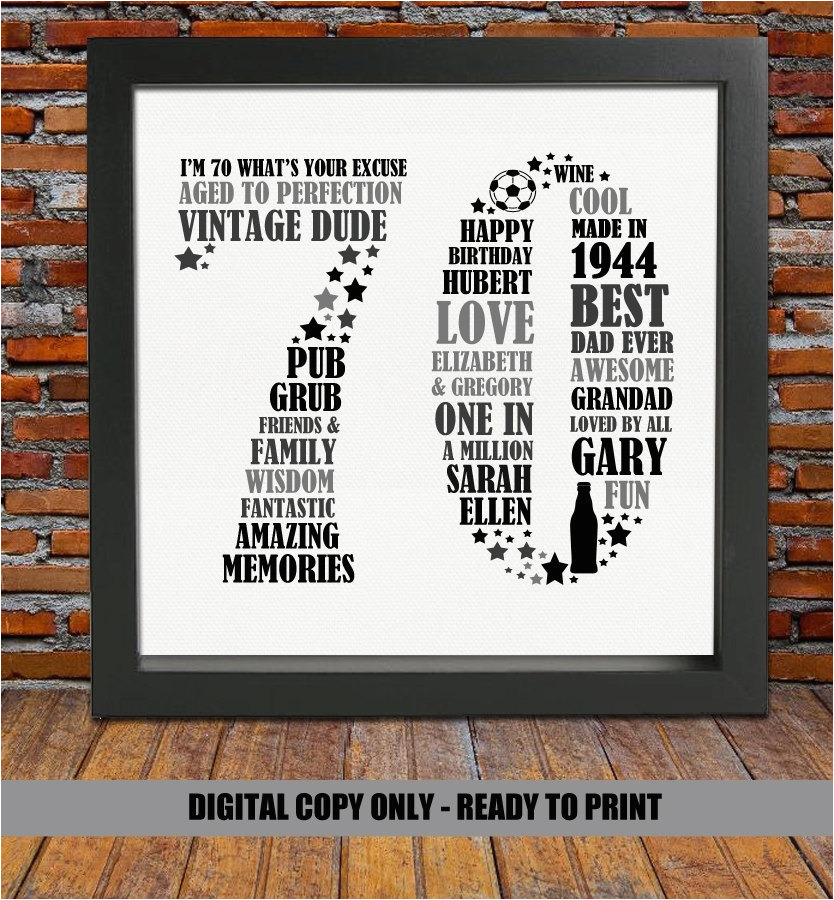 70 Birthday Gifts For Her 70th Gift Ideas Herwritings And Papers