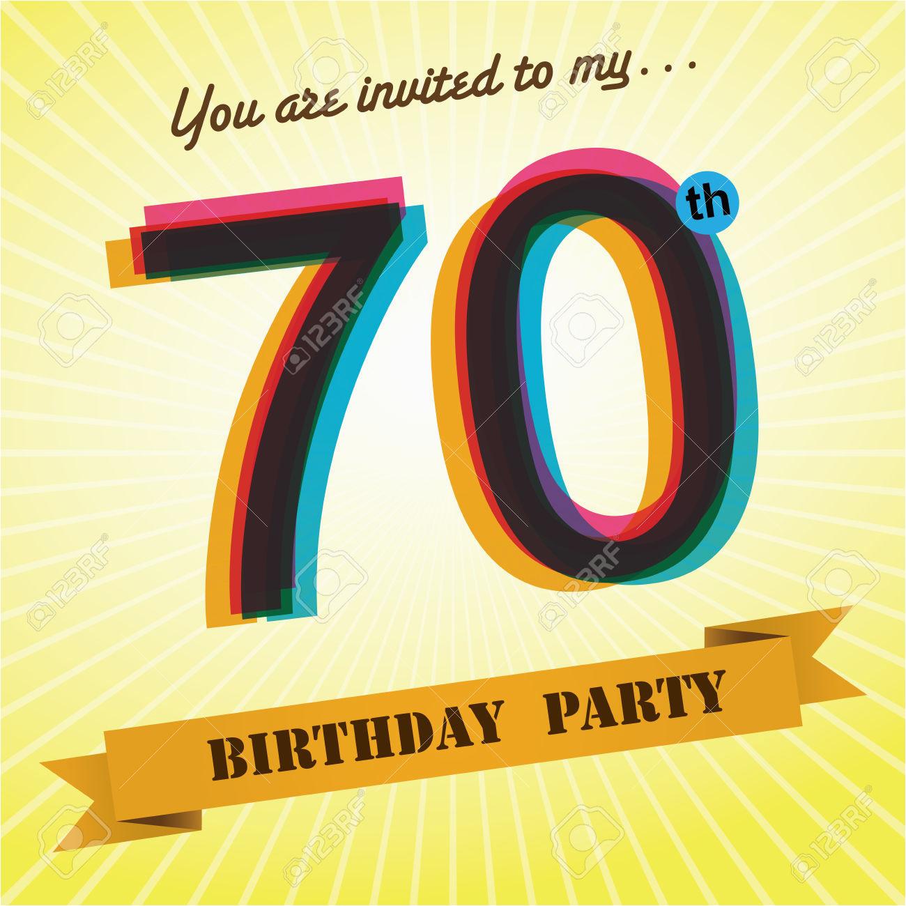 70 Birthday Invites 70th Invitations Free Templates