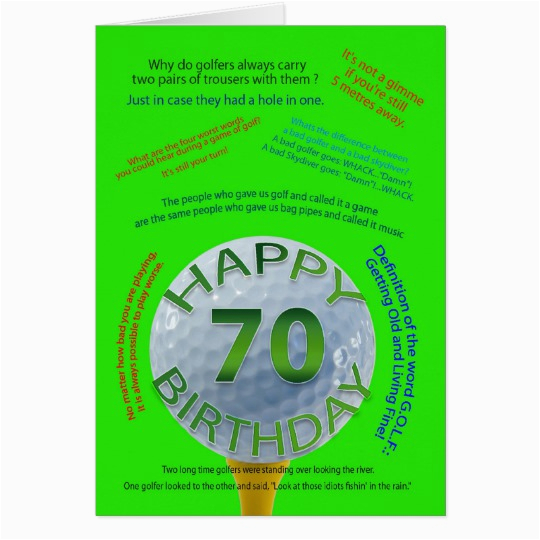 70 Year Old Birthday Cards Golf Jokes Card For Zazzle Co Uk