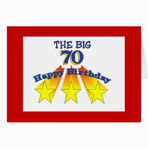 70 Year Old Birthday Cards Happy Invitation Stationery Note Card