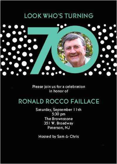 70 Year Old Birthday Invitations 70th Party Invitation Ideas New