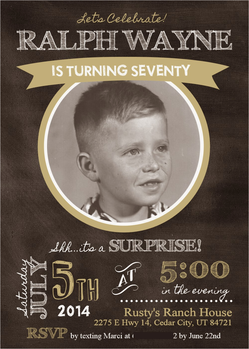 70 Year Old Birthday Invitations Marci Coombs Dad 39 S 70th Surprise Party