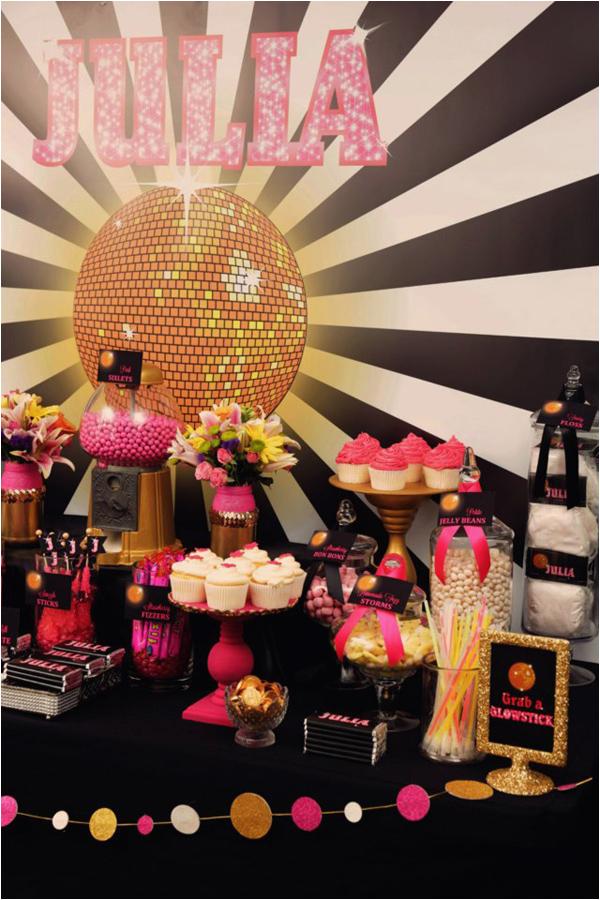 disco glam 12th birthday party