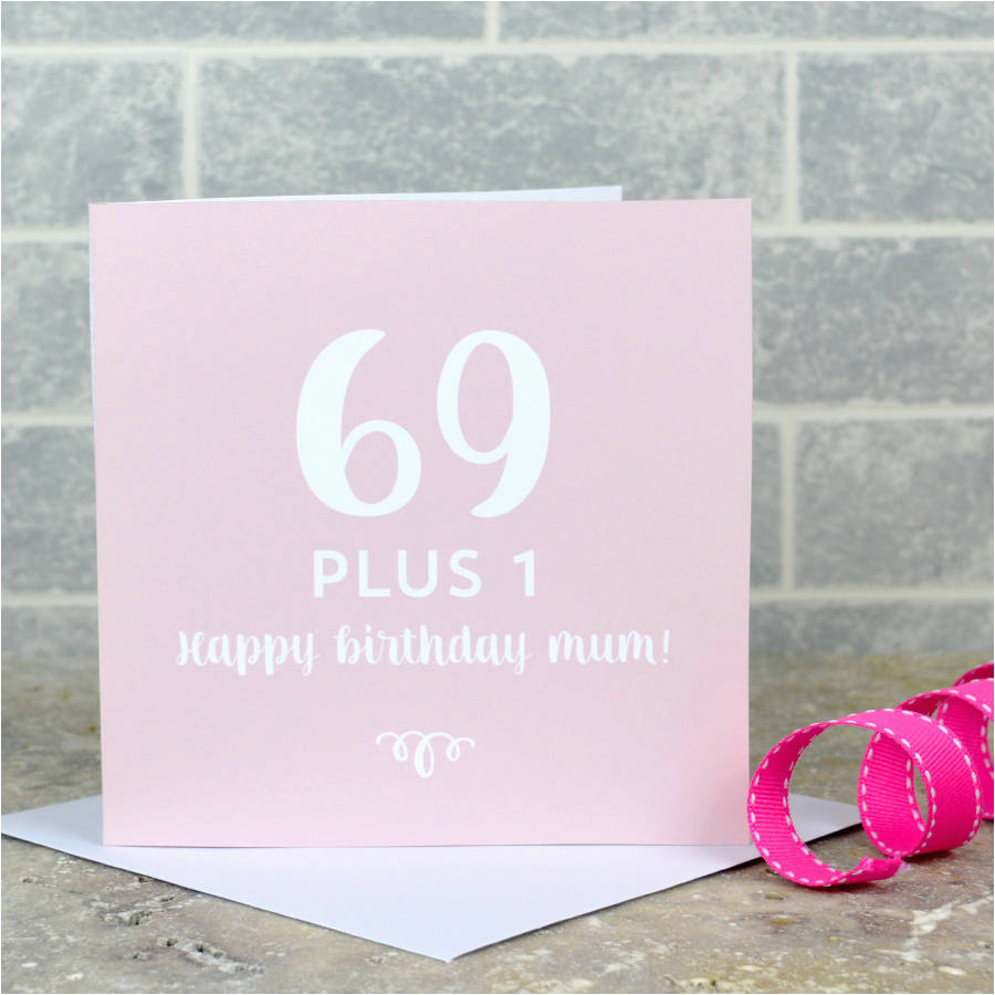 personalised 70th birthday card by pink and turquoise