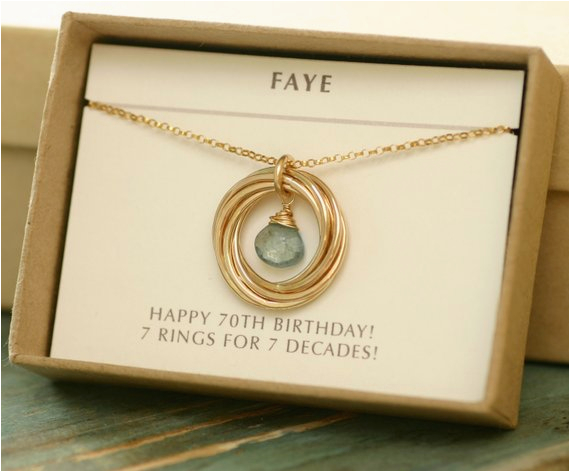 70th Birthday Gift Ideas For Her Grandmother Necklace Mom