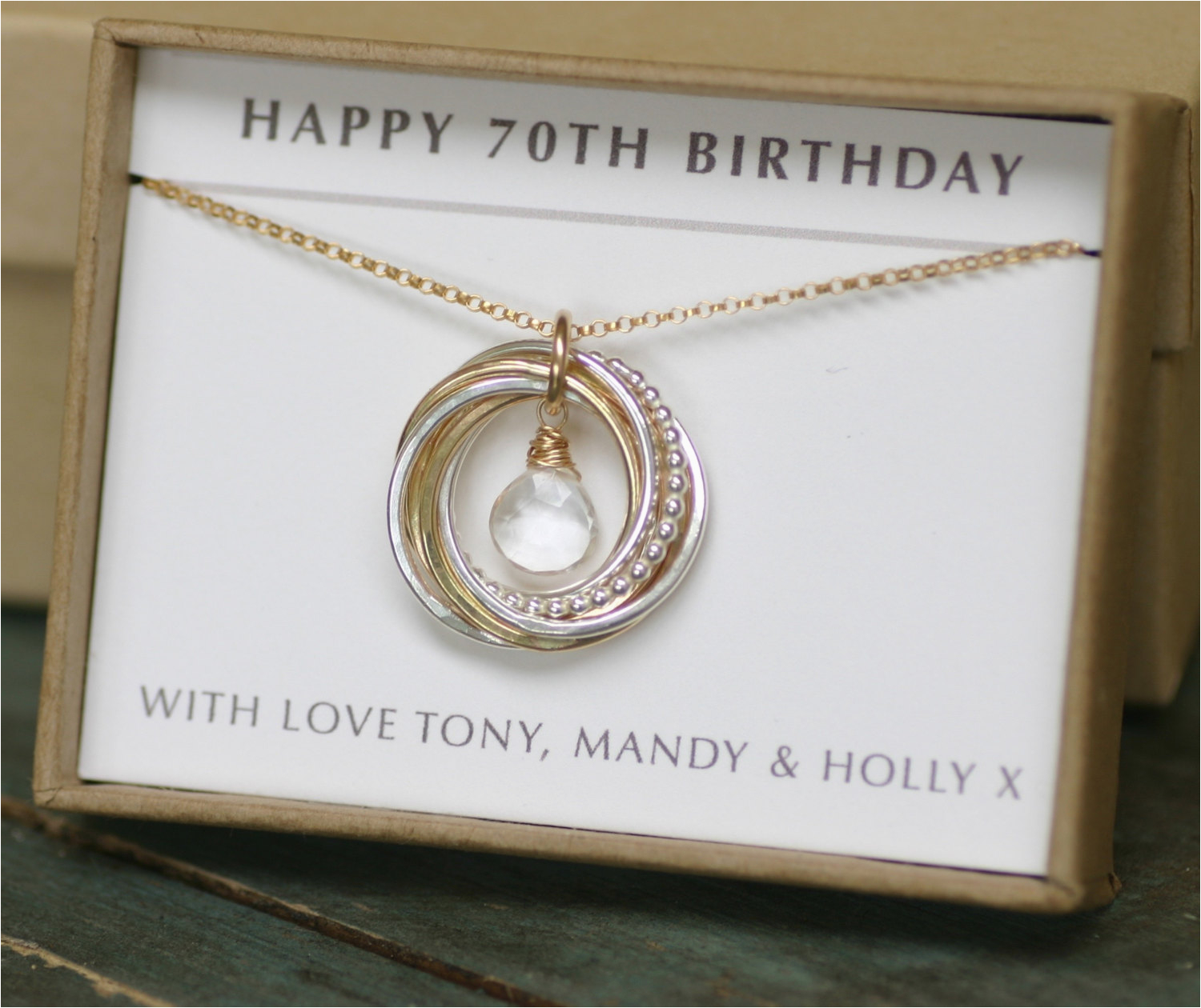 70th Birthday Gift Ideas For Her April Birthstone Necklace Mom