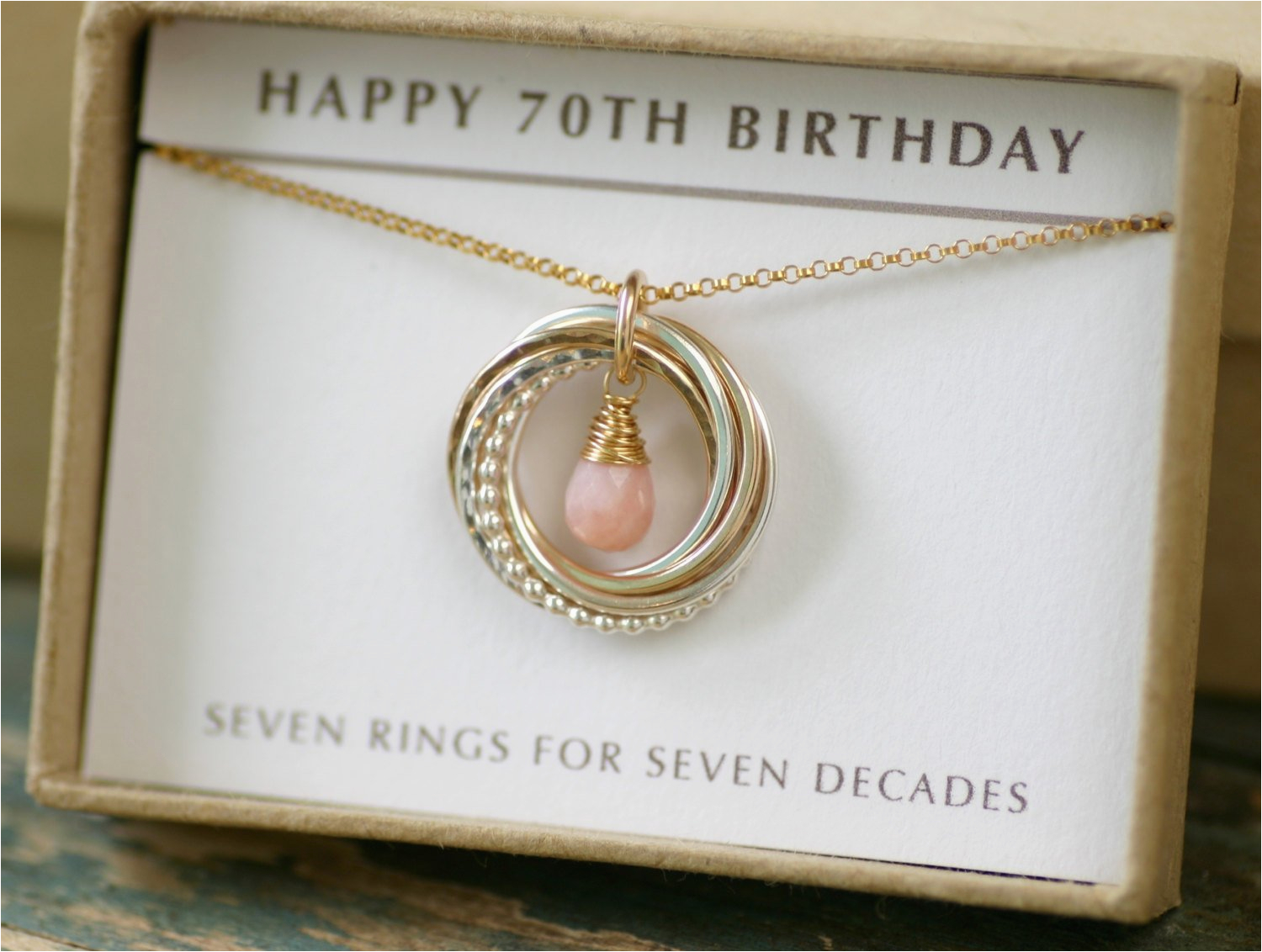 70th Birthday Gift Ideas For Her Mother Jewelry Grandma Pink