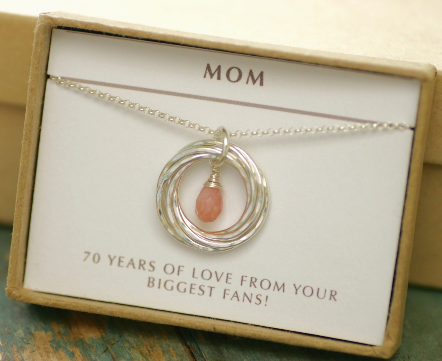 70th Birthday Gift Ideas For Her Idea Pink Opal Necklace Grandma