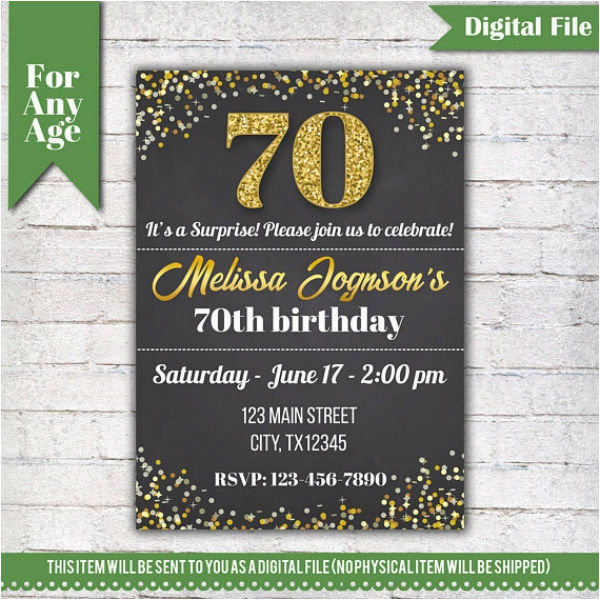 14 70th Birthday Invitation Card Templates Designs