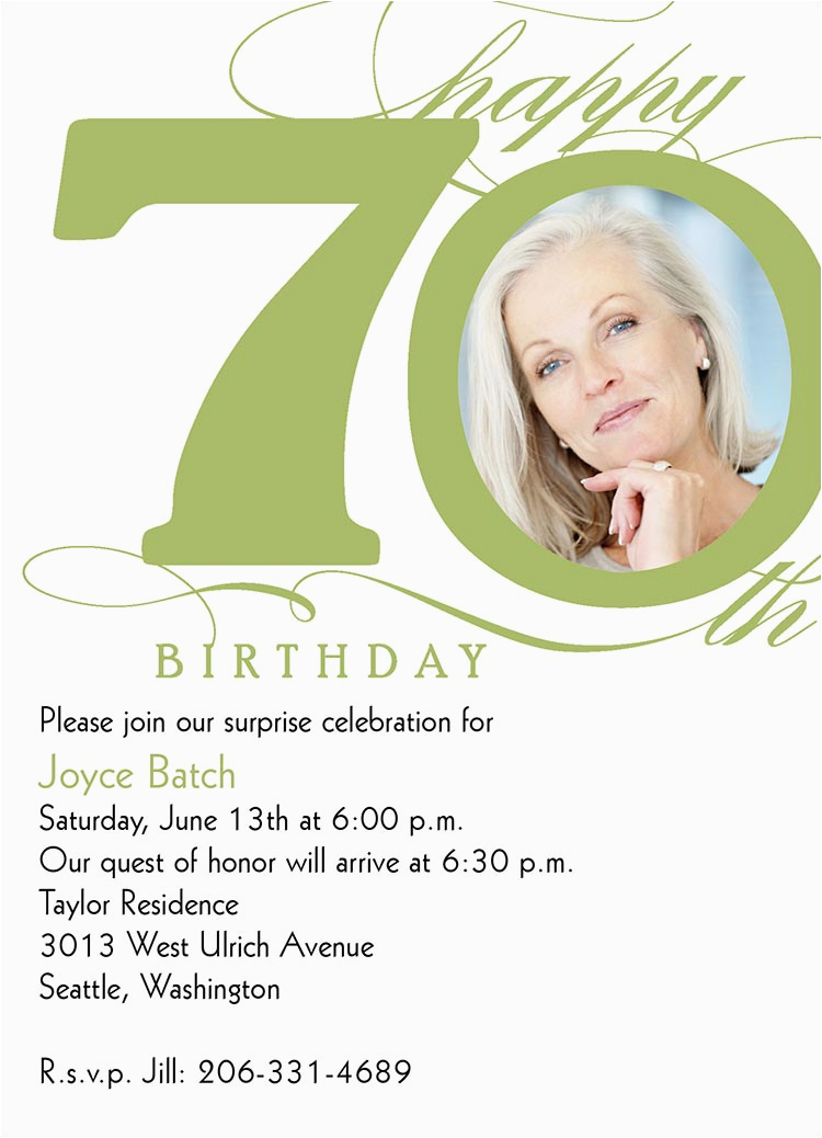70th Birthday Invitation Card Sample 70th Milestone Birthday Birthday Invitations From