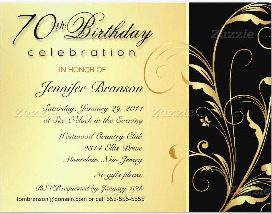 70th Birthday Invite Wording 70th Birthday Party Invitation Wording Dolanpedia