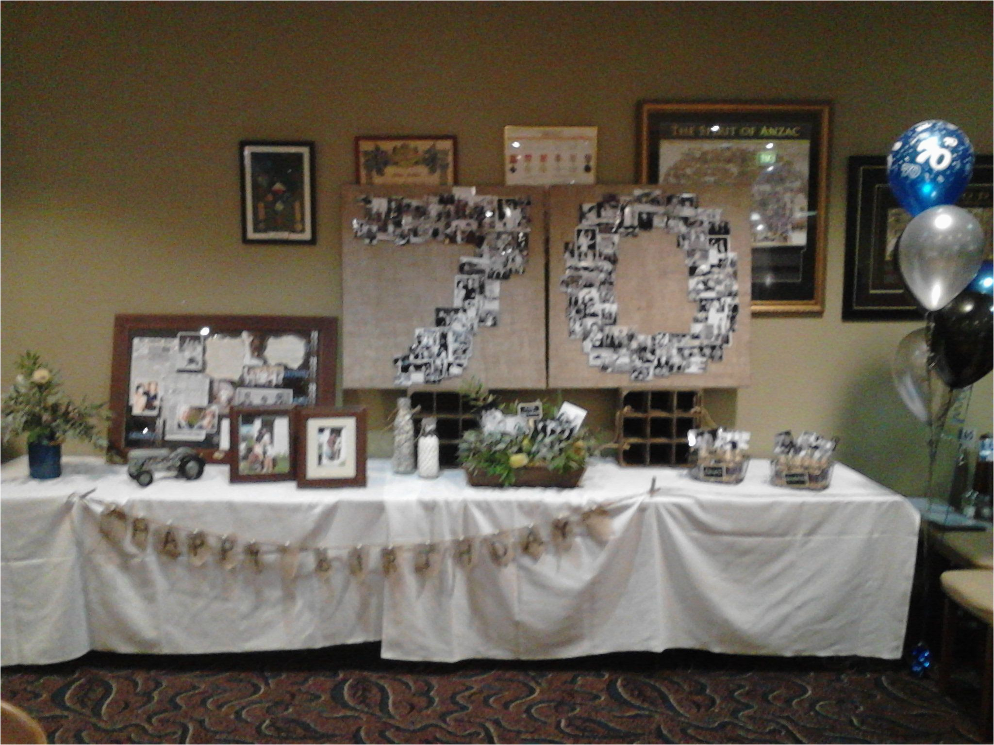 70th Birthday Party Decorations Supplies I Just Love The Way This Looks