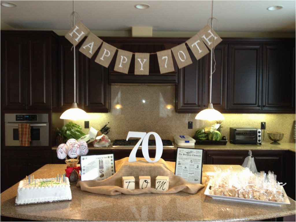 70th Birthday Table Decoration Ideas Party And Preparation Margusriga