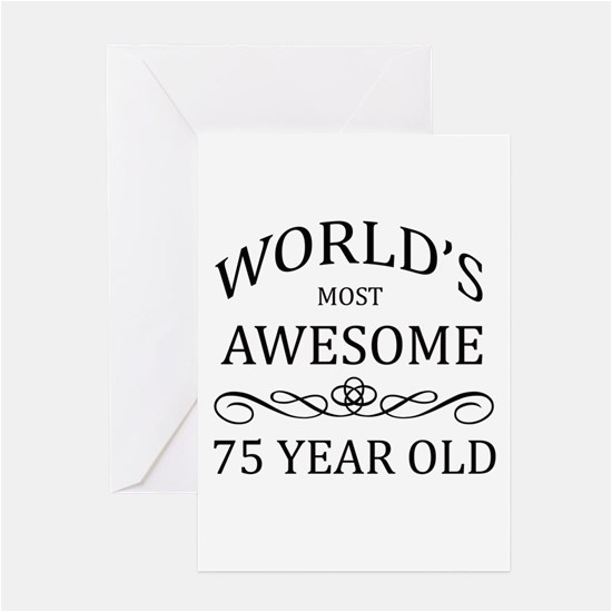 75 Year Old Birthday Cards 75th Greeting Thank You And Custom