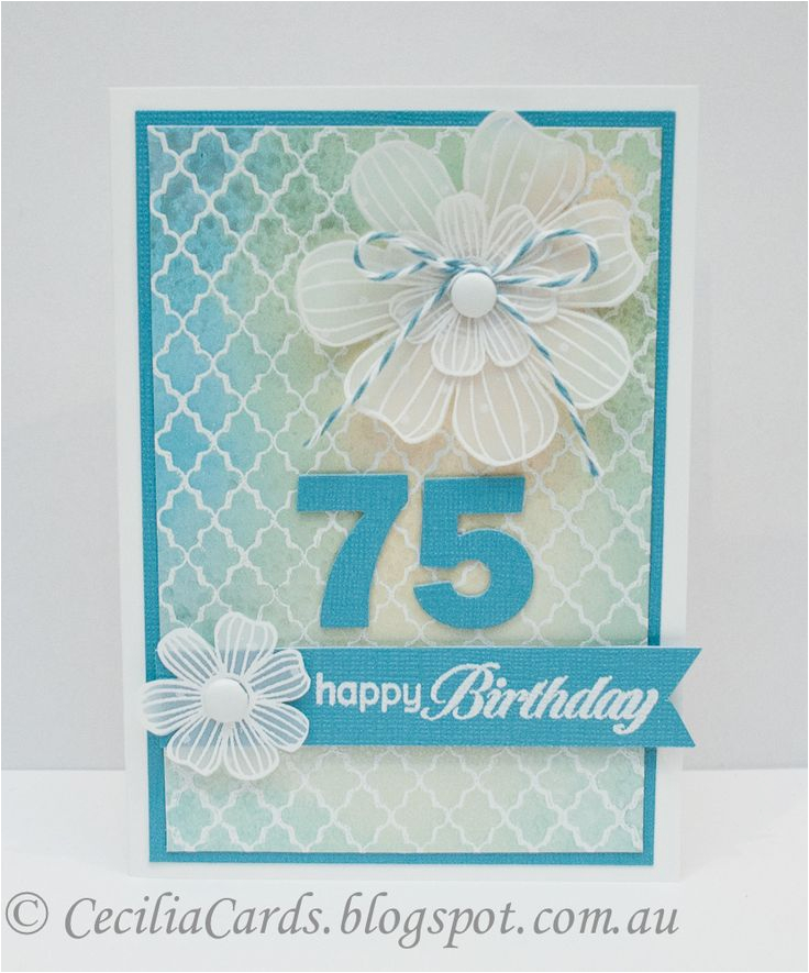 75th Birthday Card Ideas Cecilia 39 S Cards Birthdays 10