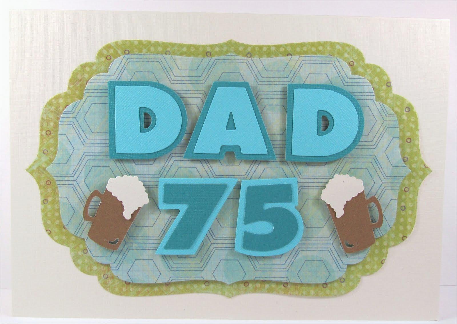 card idea dad 75th birthday with pint