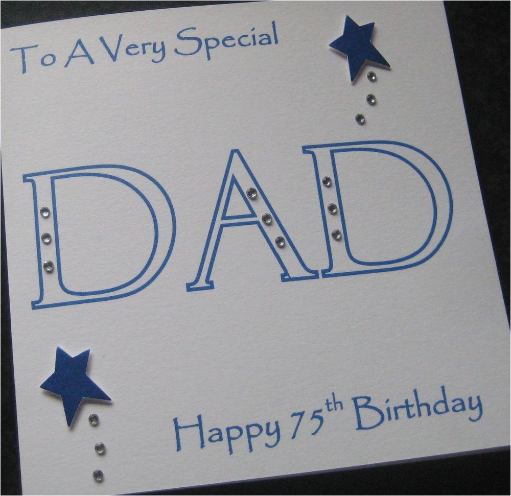 75th Birthday Cards for Dad Personalised Handmade Dad Birthday Card 40th 50th 60th