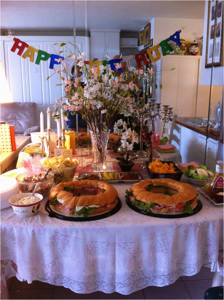 75th Birthday Decorations Ideas Buffett Table For My Dads Party
