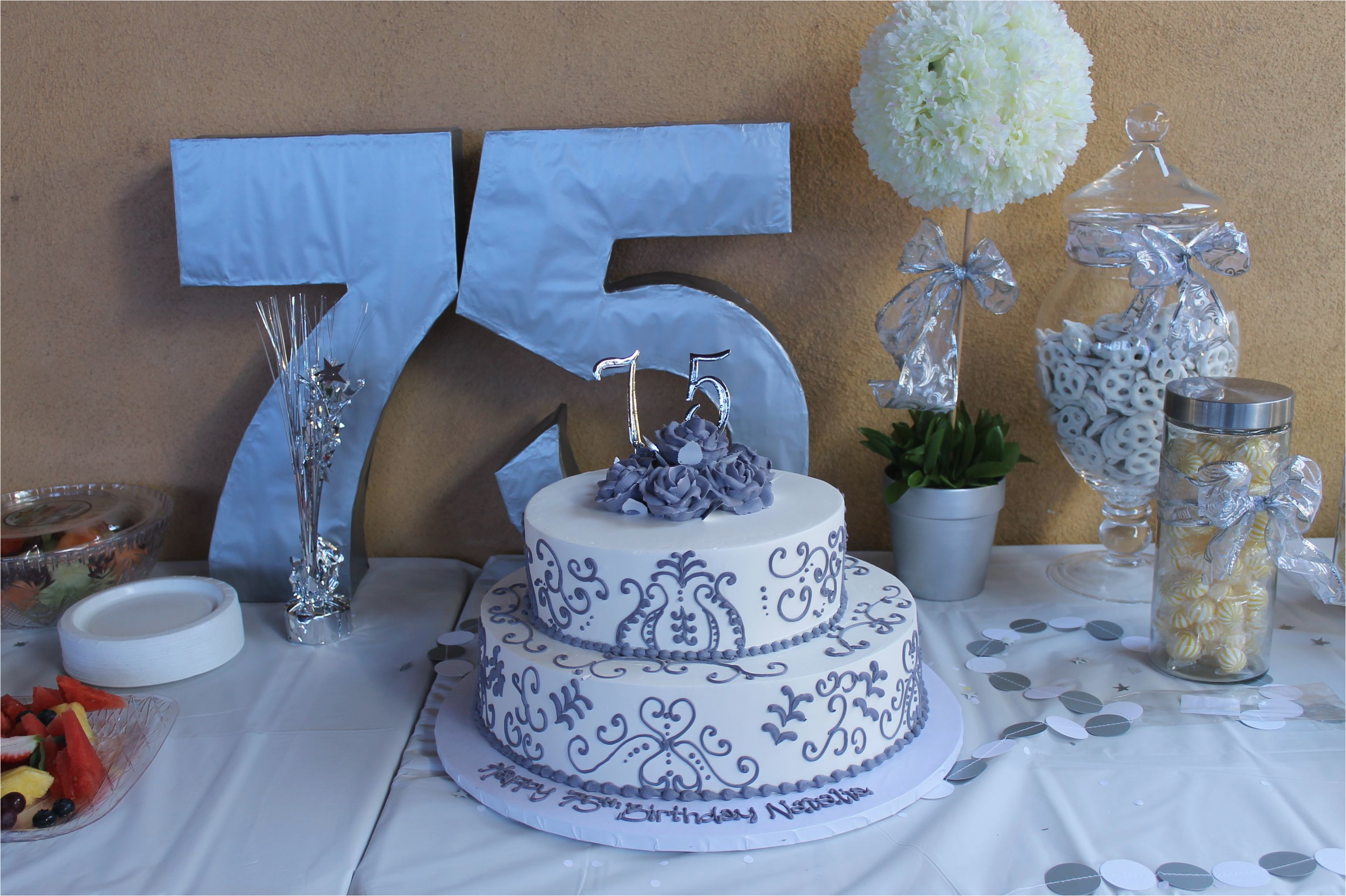75th Birthday Decorations Ideas For Moms Party Ehow