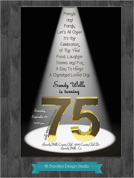 75th birthday party ideas 75th birthday bash custom