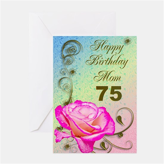75th birthday greeting cards