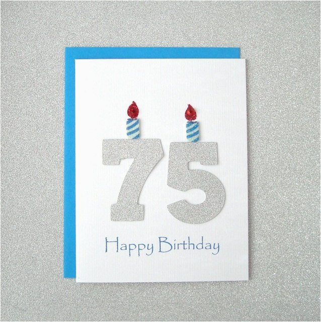 75th birthday card 75th milestone