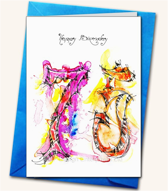 75th Birthday Greeting Cards Card Personalised By