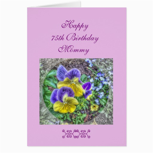 75th Birthday Greeting Cards Mom 39 S Card Zazzle