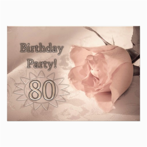 80 Year Old Birthday Invitations 1 000 Announcements