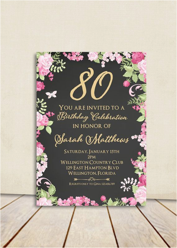 80 Year Old Birthday Party Decorations 25 Best Ideas About 80th Invitations On